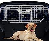 Sailnovo Hundegitter fürs Auto-Schutzgitter Trenngitter - Bis 61' verstellbar Hundeschutzgitter für den Kofferraum - Kopfstützen Metall Auto Gitter/Gepäckgitter/Kofferraumgitter, Grau