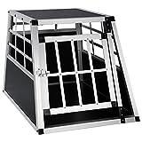 EUGAD Hundebox Transportbox Hundetransportbox Aluminium 1 Türig Reisebox Gitterbox Box 0050HT