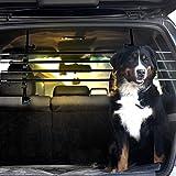 Dekolona TESTSIEGER: SEHR GUT Auto Hundegitter - Mit gratis Transporttasche - Optimaler Halt Dank Teleskopstangen - Kinderleichte Montage ohne Werkzeug - Universal Kofferraum Trenngitter für Hunde