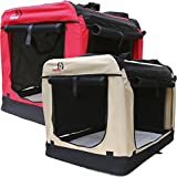Dogidogs Hundetransportbox faltbar Transportbox für Hunde Hundebox Auto - Dogi Kennel - beige Größe L