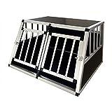 Gegaden Hundebox Transportbox Hundetransportbox Alu Reisebox Gitterbox Box 89*69*50cm