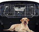 Sailnovo Auto Hundegitter Zum Transport für Hund, Kofferraum Trenngitter für Hunde, Kopfstützen Befestigung Auto Schutzgitter Hundetrenngitter, Verstellbare Kofferraumschutz Gitter Gepäcknetz