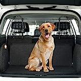 Toozey Kofferraum Hundegitter für Auto, SUV Universal - Kopfstützen-Befestigung&Gurte Doppelte Fixierung Schutzgitter Trenngitter für Hunde - Verstellbar, Gratis E-Book