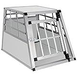 EUGAD Hundebox Transportbox Hundetransportbox Aluminium 1 Türig Reisebox Gitterbox Box 0052HT