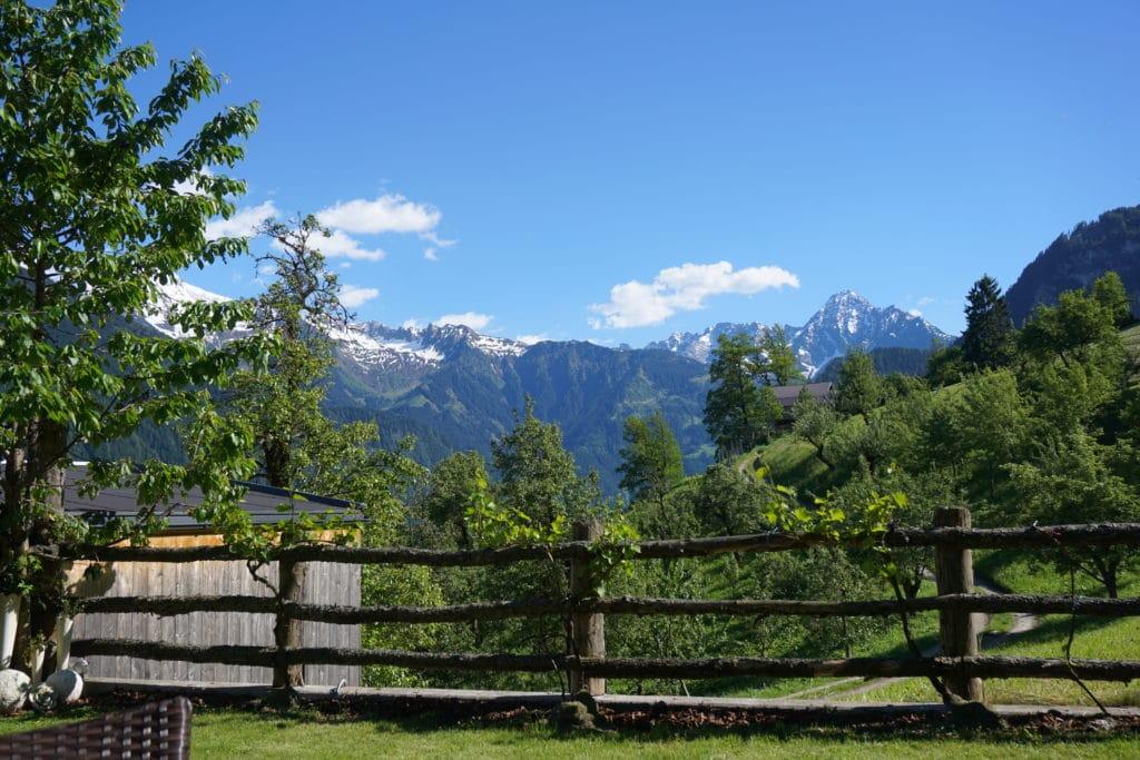 Ausblick aus unserer Ferienwohnung am Schwendeberg / Mayrhofen