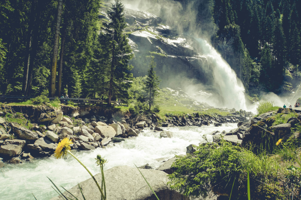Picknick mit Ausblick an den Krimmler Wasserfällen