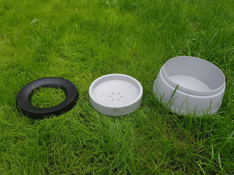 Die Hunter Travel Bowl für Hunde in Einzelteilen